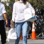 Laura Dern in a White Sweater Goes Shopping in Brentwood