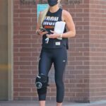 Lindsey Vonn in a Black Tank Top Leaves a Grueling Gym Session in Beverly Hills
