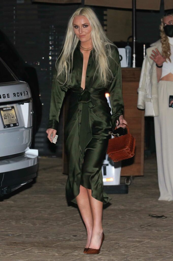 Lindsey Vonn in an Olive Green Gown