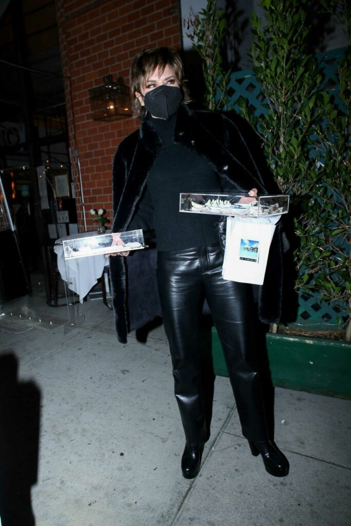 Lisa Rinna in a Black Outfit