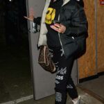 Nicole O'Brien in a Black Puffer Jacket Leaves a Music Recording Studio in North London