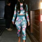 Nicole Scherzinger in a Black Protective Mask Leaves Dinner at Craig's in West Hollywood
