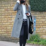 Olivia Wilde in a Grey Coat Was Seen Out in London