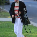 Selma Blair in a White Pants Was Seen Out in West Hollywood