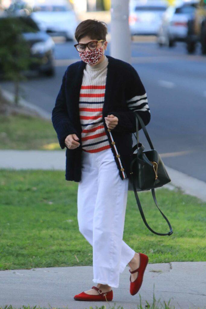 Selma Blair in a White Pants