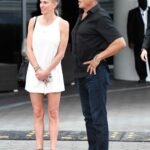 Sylvester Stallone in a Black Shirt Leaves the Setai Hotel Out with Jennifer Flavin in Miami