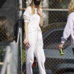 Whitney Port in a Red Cap Takes Her Son Sonny to Tennis Practice in Studio City