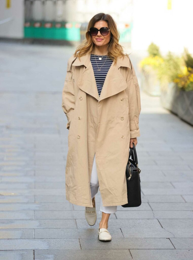 Zoe Hardman in a Beige Trench Coat