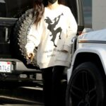 Cara Santana in a White Sweatshirt Heads to Benjamin Salon in Hollywood