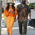 Cara Santana in an Orange Outfit Was Seen Out with Shannon Leto in West Hollywood