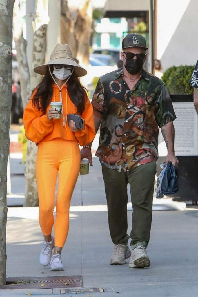 Cara Santana in an Orange Outfit