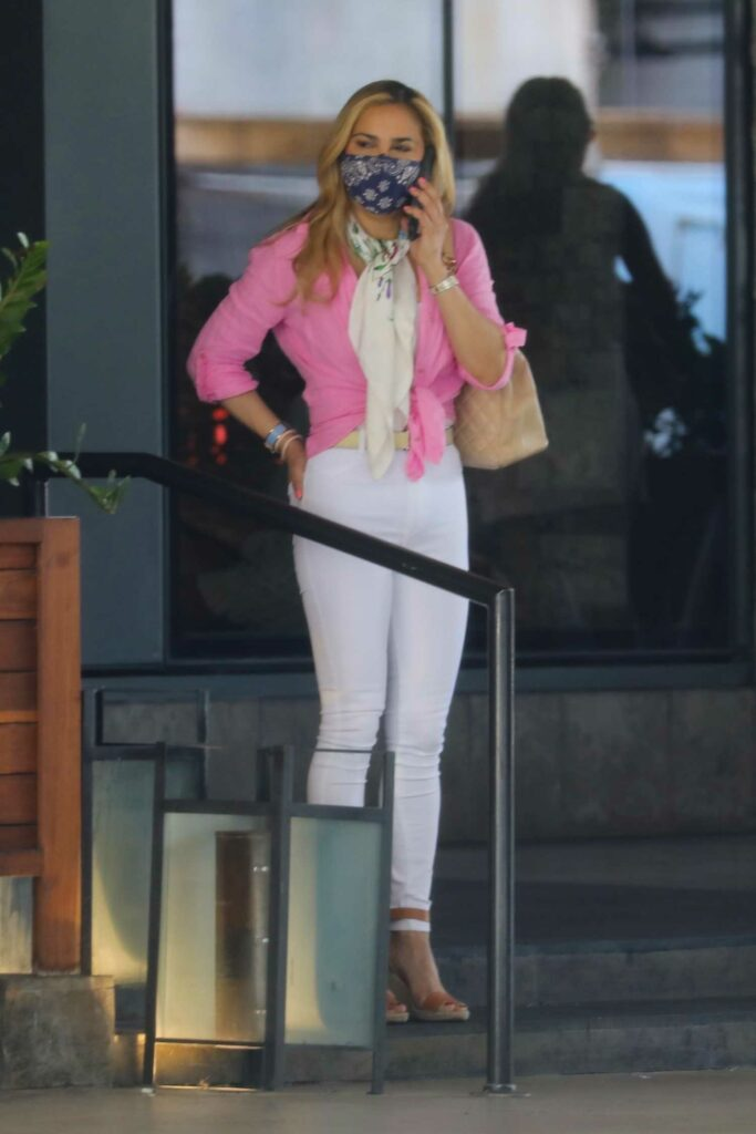 Carrie Underwood in a Pink Blouse