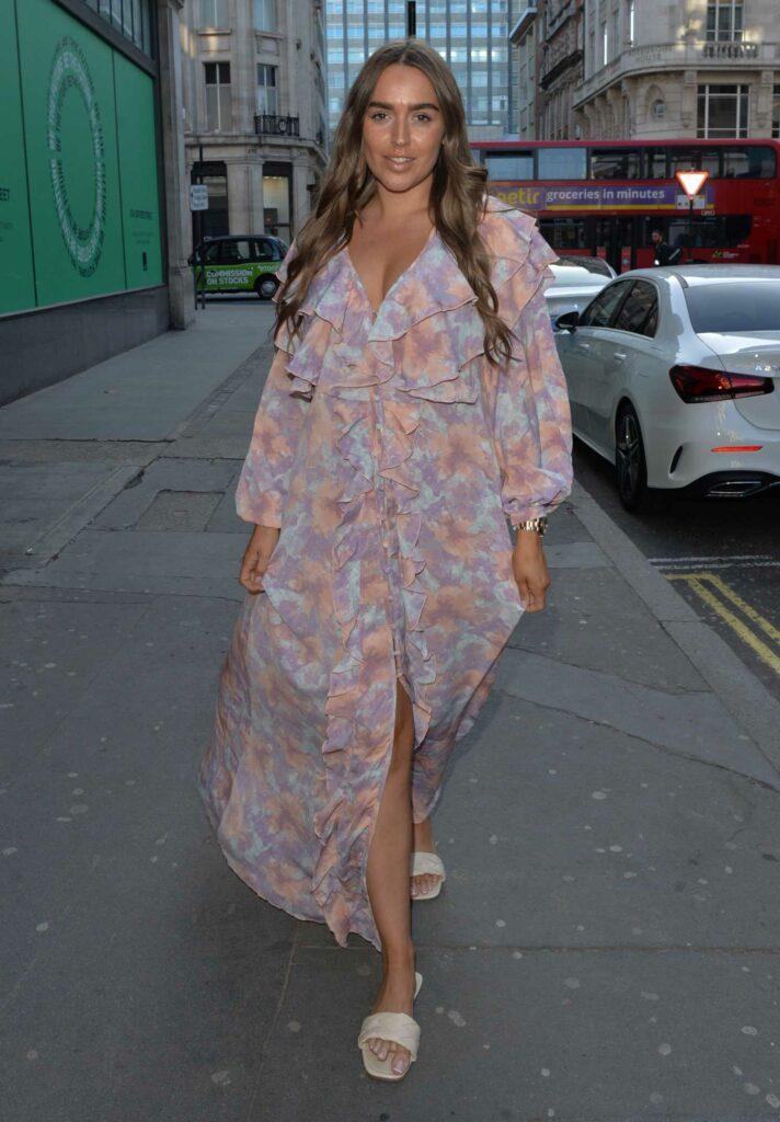 Chloe Ross in a Floral Dress