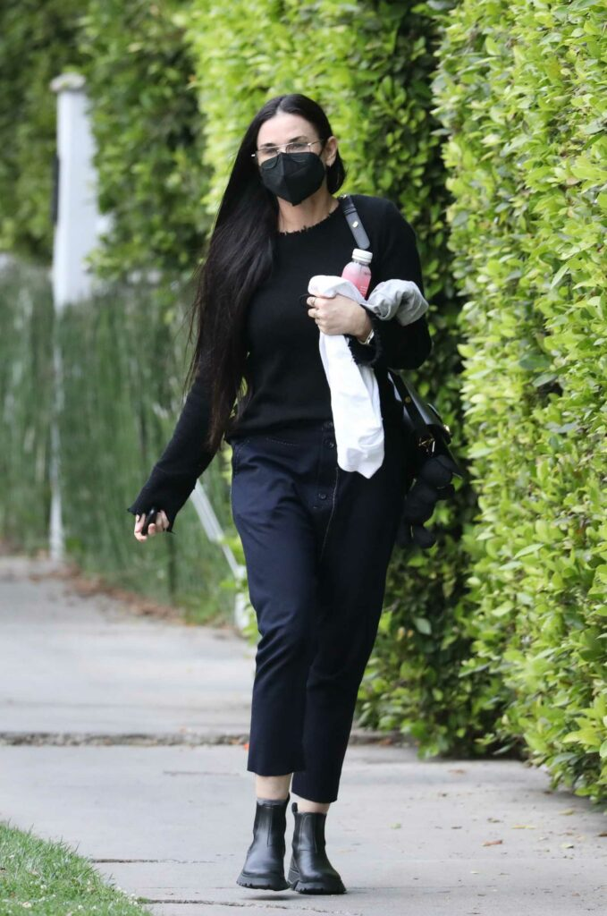 Demi Moore in a Black Outfit