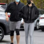 Dolph Lundgren in a Black Sneakers Goes Grocery Shopping at Pavilions with Emma Krokdal in Malibu