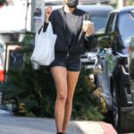 Emma Krokdal in a Black Outfit Leaves a Liquor Store with in West Hollywood