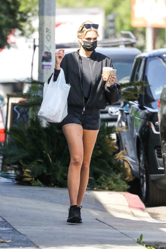 Emma Krokdal in a Black Outfit