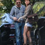 Gerard Butler in a Grey Hoodie Was Spotted Out with Morgan Brown in Hollywood