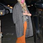 Hilary Duff in a Grey Coat Leaves Matsuhisa Restaurant in Beverly Hills