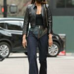 Irina Shayk in a Black Leather Jacket Was Seen Out in New York