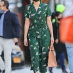Jennifer Lawrence in a Green Dress Was Spotted Out in Tribeca, New York