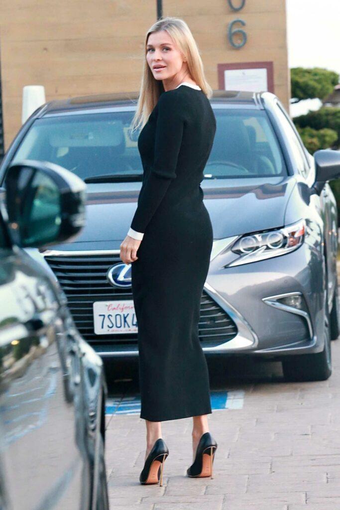 Joanna Krupa in a Black Dress