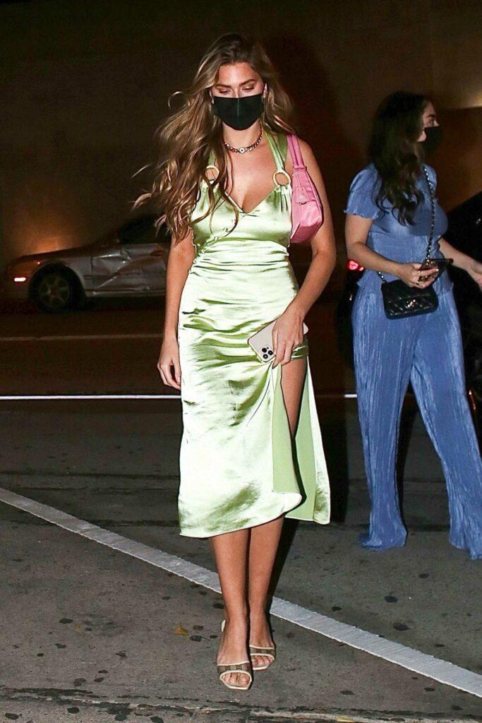 Kara Del Toro in a Neon Green Dress