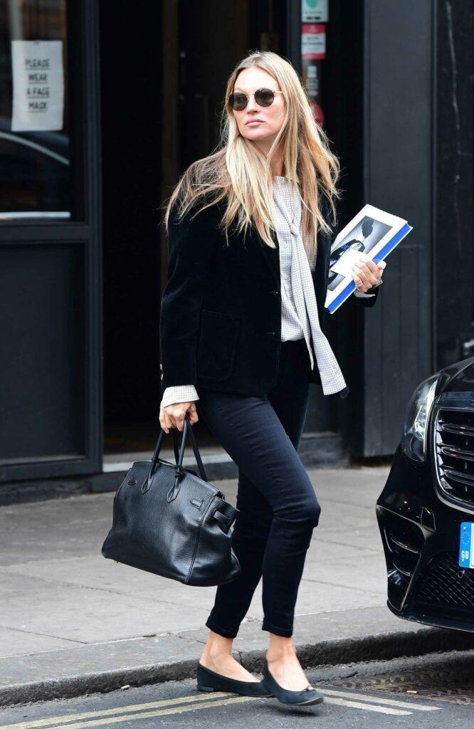 Kate Moss in a Black Blazer