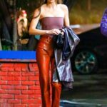 Kendall Jenner in an Orange Pants Was Seen Out  in Los Angeles