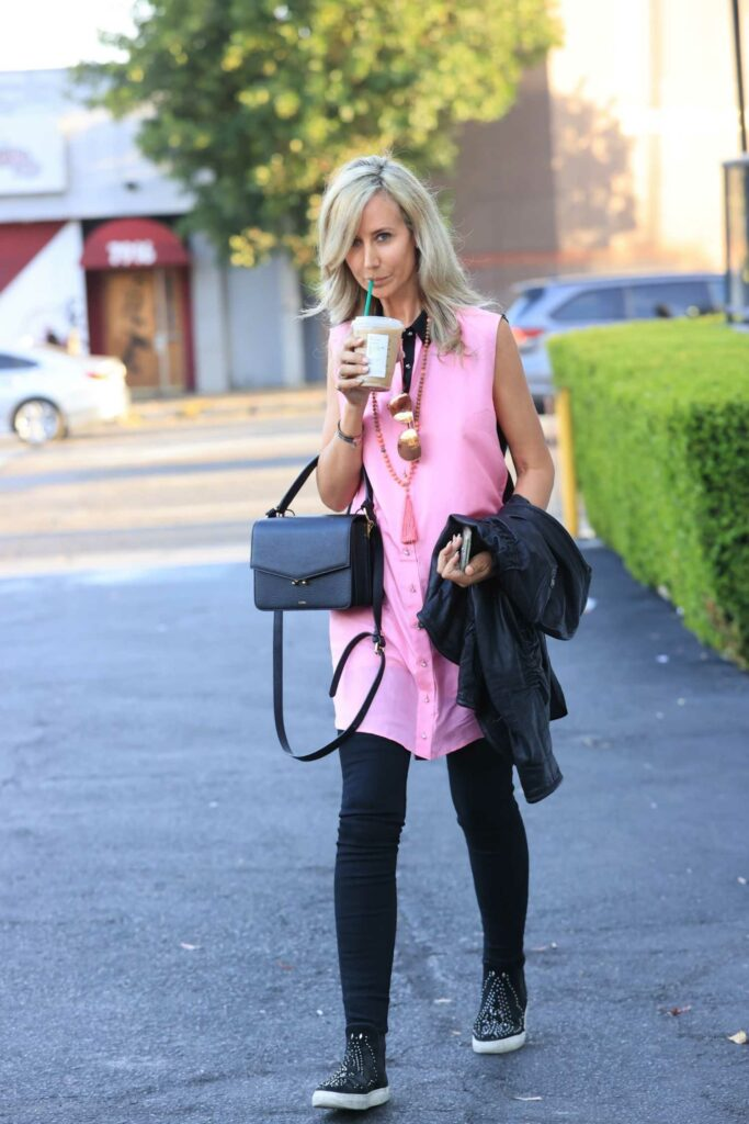 Lady Victoria Hervey in a Pink Shirt
