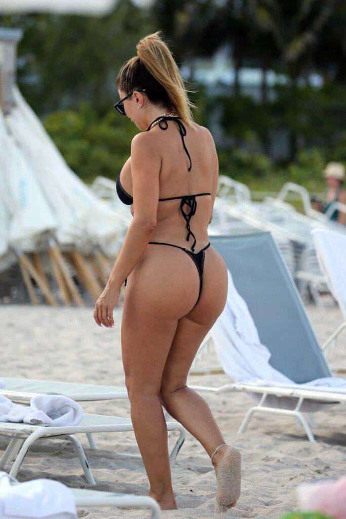 Larsa Pippen in a Black Bikini
