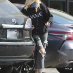 Malin Akerman in a Grey Ripped Jeans Was Seen Out in Los Angeles