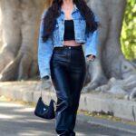 Megan Fox in a Blue Denim Jacket Leaves a Salon in West Hollywood 04/11/2021