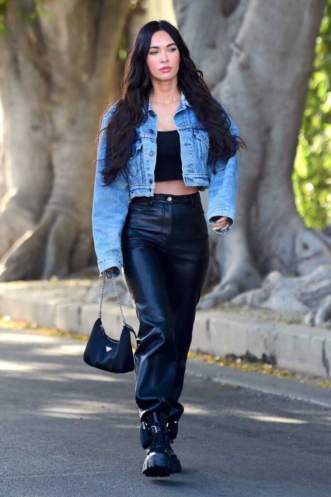 Megan Fox in a Blue Denim Jacket