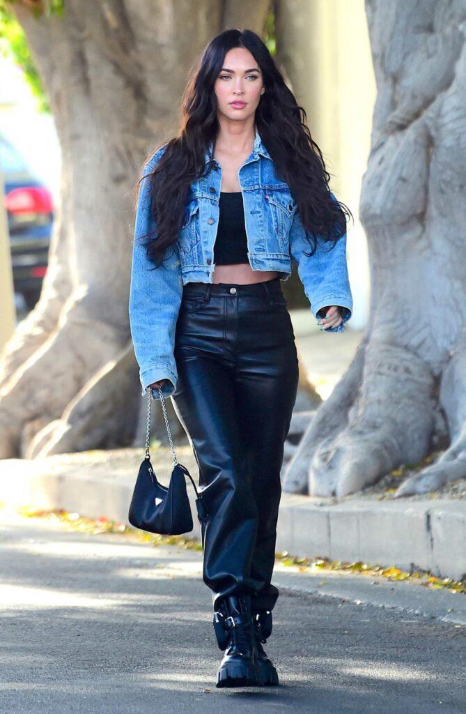 Megan Fox in a Blue Denim Jacket