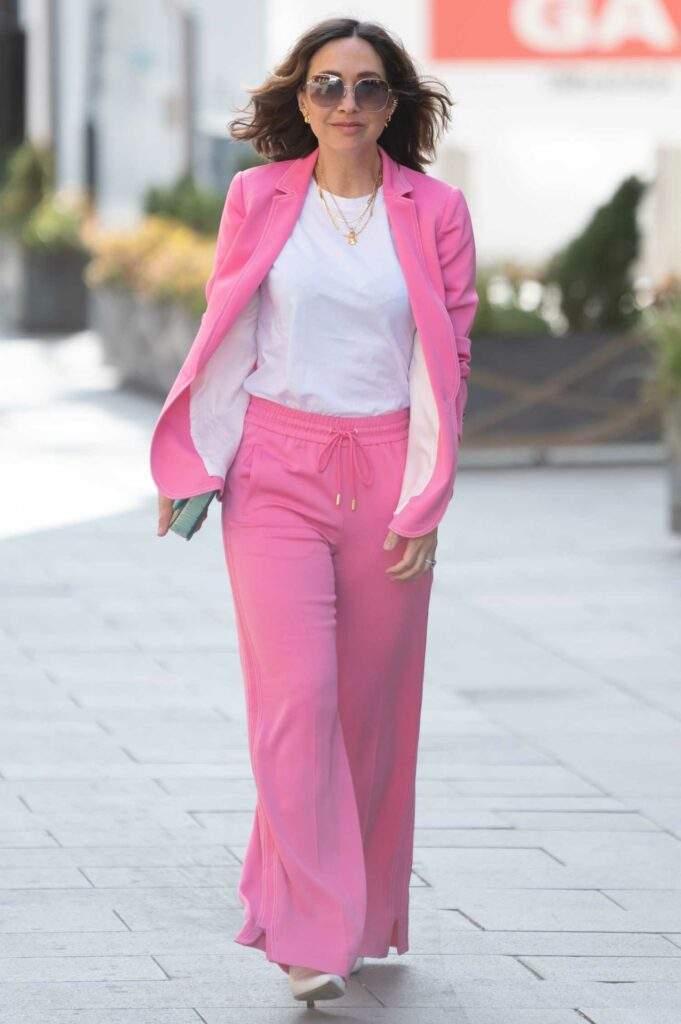 Myleene Klass in a Pink Suit
