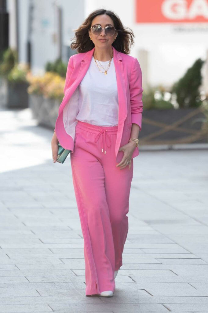 Myleene Klass in a Pink Suit