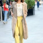 Myleene Klass in a Yellow Pants Arrives at the Smooth Radio in London