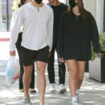 Nicky Dodaj in a Black Sweatshirt Was Seen Out with Arnold Schwarzenegger's son Joseph Baena in West Hollywood