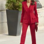 Queen Letizia of Spain in a Red Suit Attends the Tribute to the Figure of Clara Campoamor at Congress of Deputies in Madrid