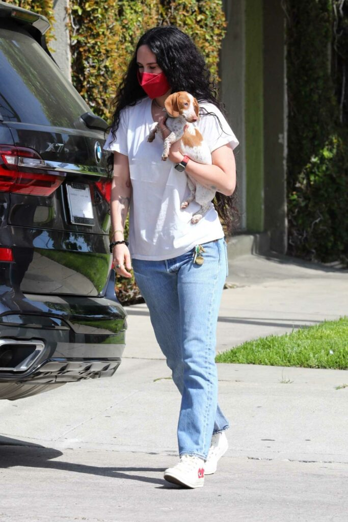 Rumer Willis in a White Tee