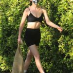 Scout Willis in a Black Sports Bra Leaves a Pilates Class in West Hollywood