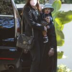 Anne Hathaway in a Black Blazer Was Seen Out with Her Son in Los Angeles