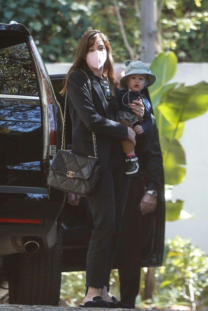Anne Hathaway in a Black Blazer