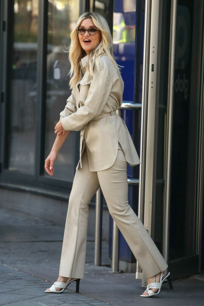 Ashley Roberts in a Beige Suit