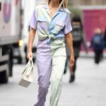 Ashley Roberts in a Colorful Pantsuit Leaves the Heart Radio in London