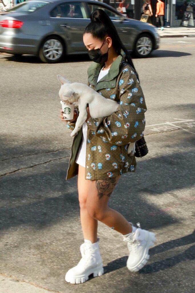Bella Poarch in a White Boots