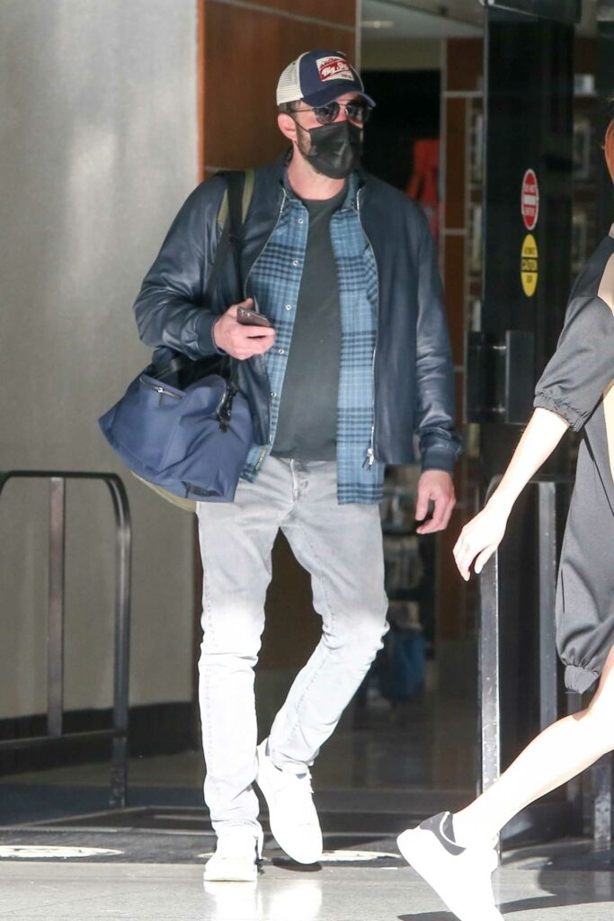 Ben Affleck in a Black Jacket