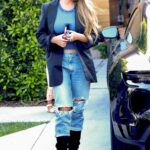 Chrissy Teigen in a Blue Ripped Jeans Was Seen Out in Los Angeles
