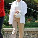 Elsa Hosk in a White Shirt Was Seen Out for a Walk with Her Family in Los Angeles